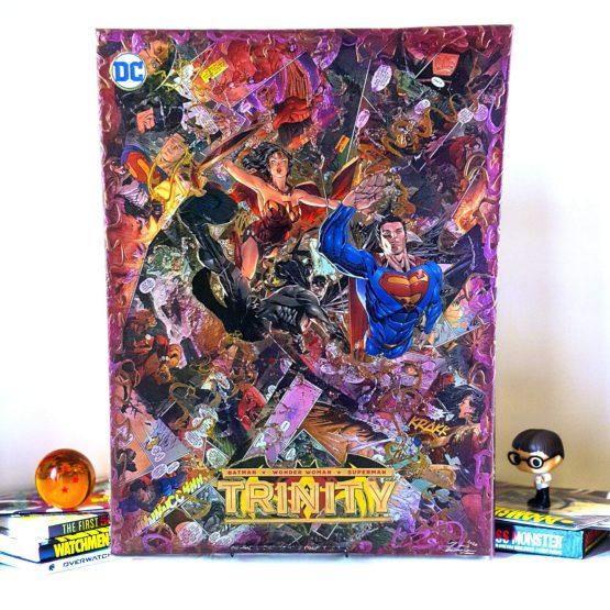 Superman Batman Wonder Woman | Trinity Annual #1 | One of a Kind JUMBO DC Comic Collage Variant Canvas