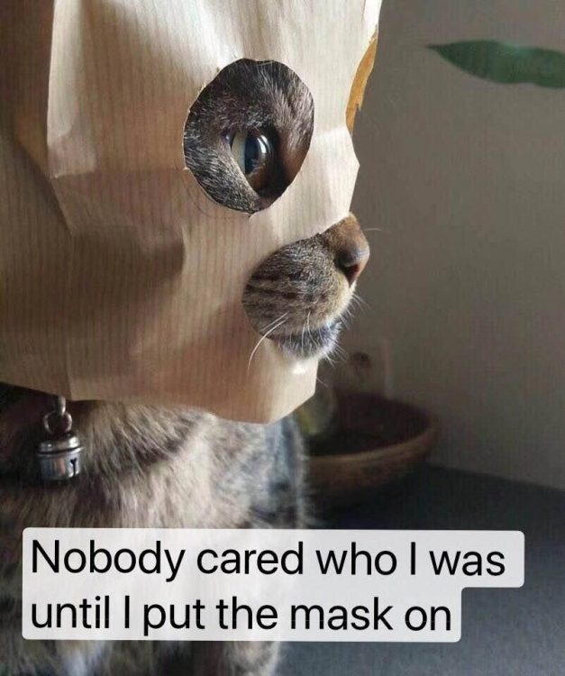 nobody cared who I was until I put the mask on 627x750 nobody cared who I was until I put the mask on