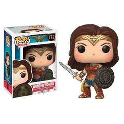 WONDER WOMAN FIGURA 10 CM VINYL POP HEROES