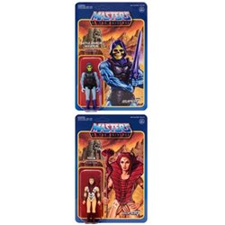 Battle Armor Skeletor + Teela Masters of the Universe Figuras ReAction 10 cm Wave 3