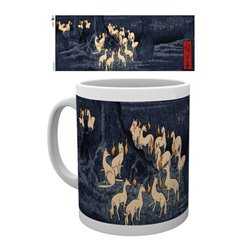 Japanese Art Taza New Years Eve Foxfire by Utagawa Hiroshige