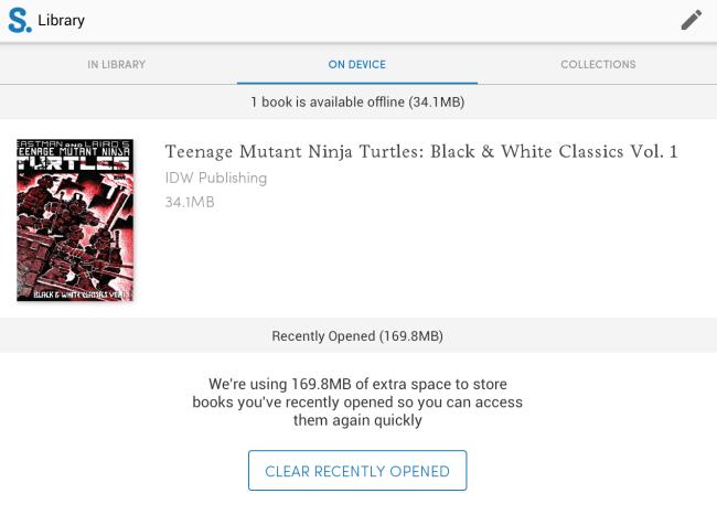 read comics offline with Scribd