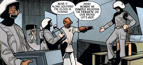 """Inspired, Ackbar later busts an impressive rendition of Dire Straits's """"Money for Nothing""""at Officer's  Club karaoke..."""