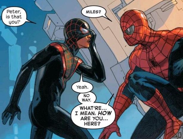 Spider-Men reunion.