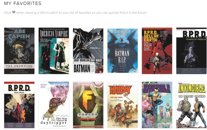 Comics in Hoopla digital