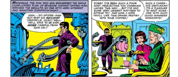 Doctor Octopus flirts with Aunt May