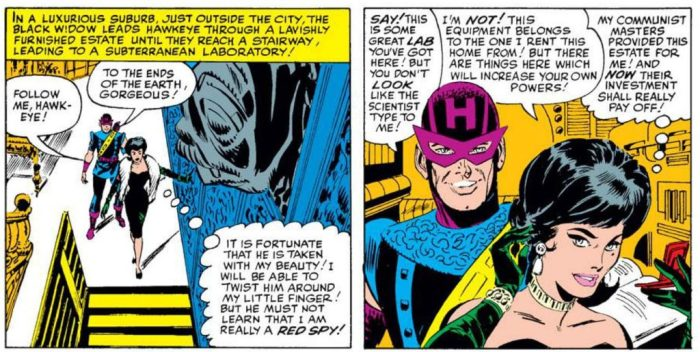 Hawkeye's first appearance in Marvel Comics