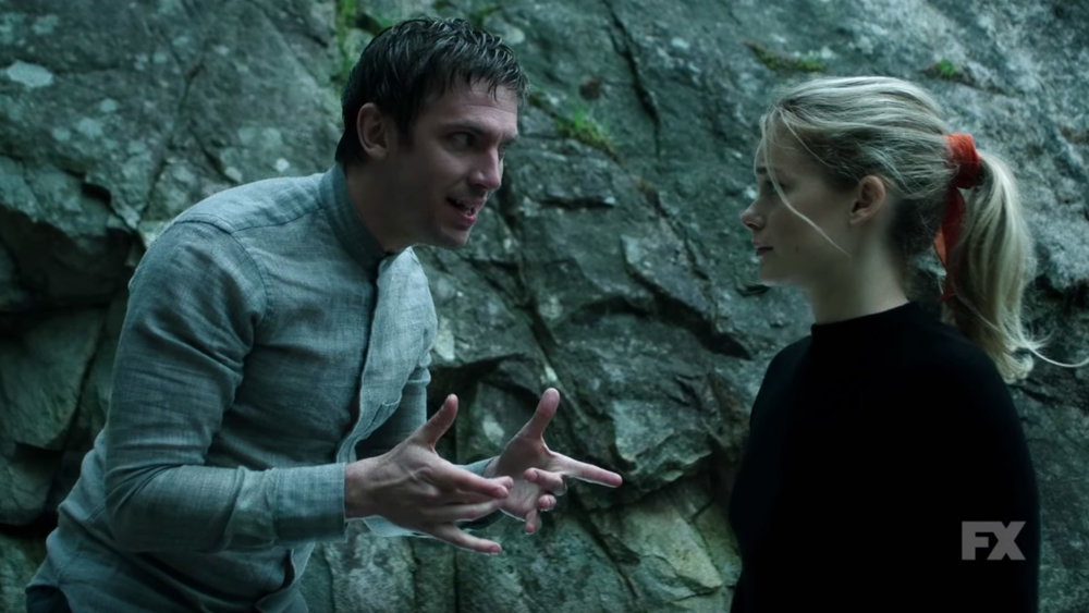 Legion talks to Rachel Keller's character in FX Legion