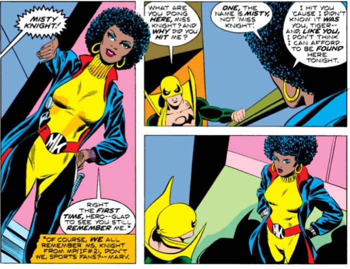 Misty Knight, wearer of epic belts