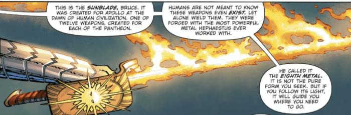 Wonder Woman gives Batman the Sunblade
