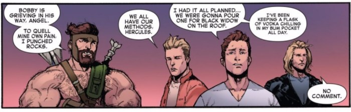 Iceman and the Champions in Marvel Legacy