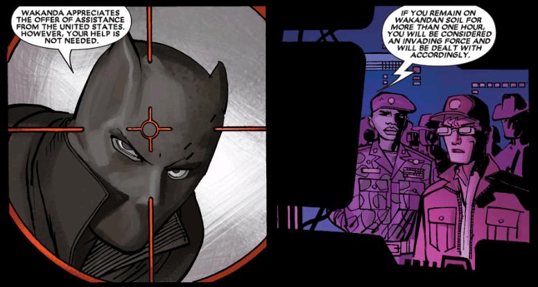 Black Panther in Reginald Hudlin's written comics