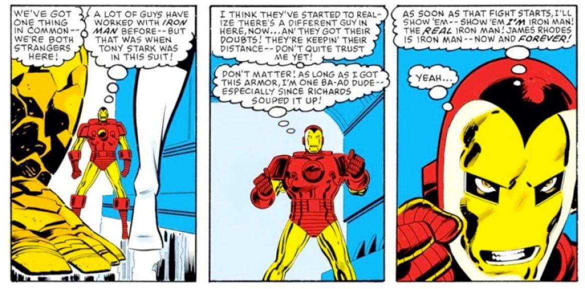 James Rhodes as Iron Man 1984 Secret Wars