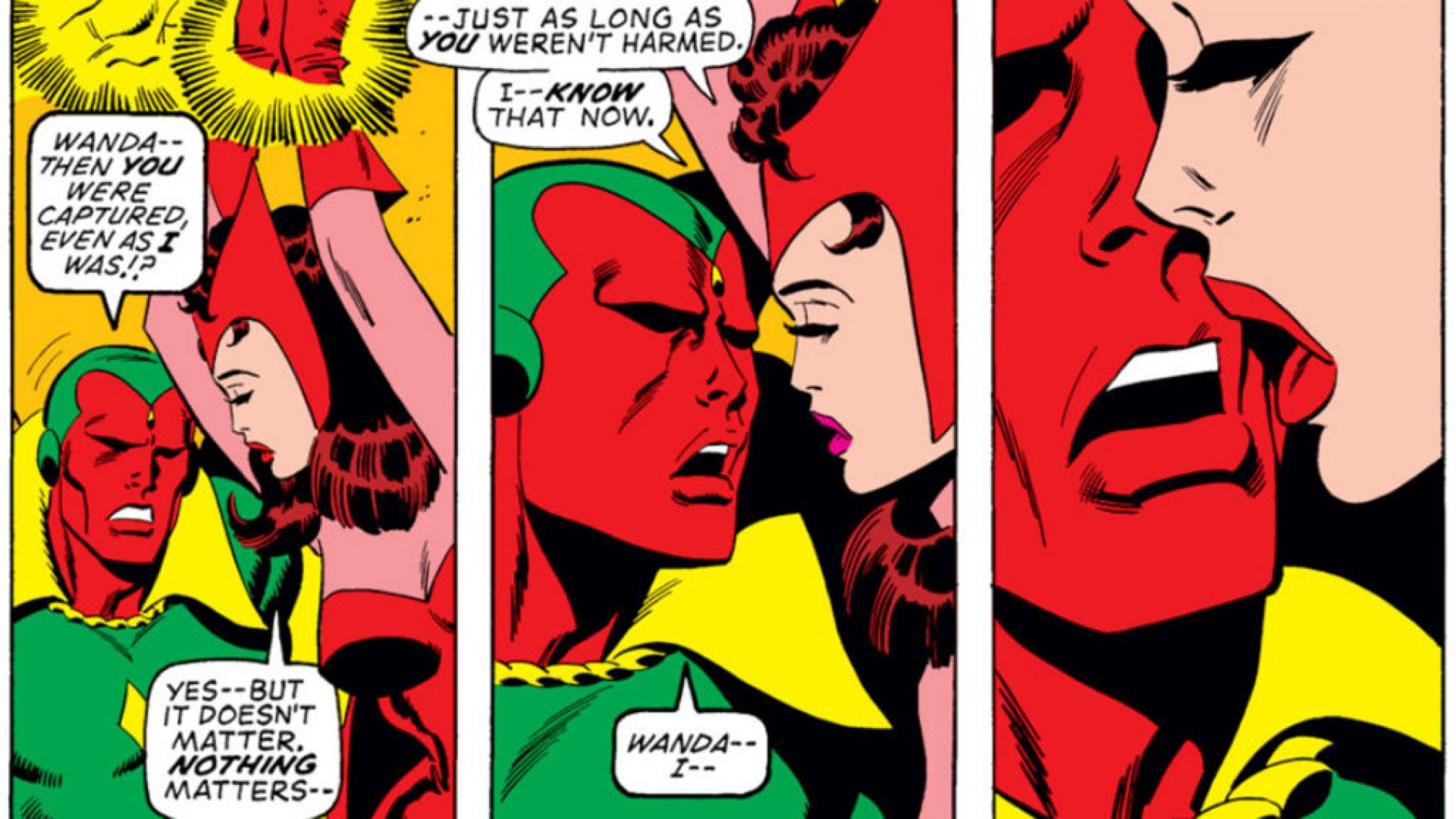 Vision and Scarlet Witch getting steamy and romantic