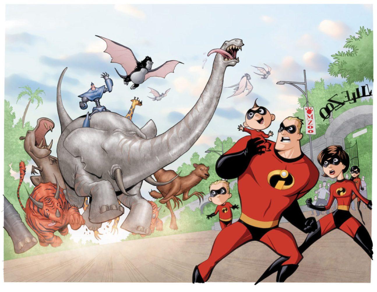 Pixar's Incredibles in comic books
