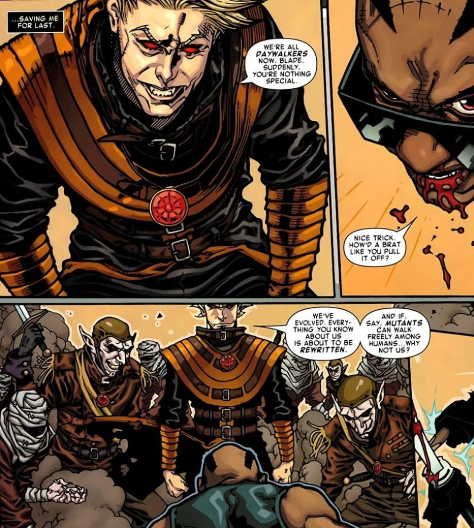 Blade in the X-Men story Curse of the Mutants