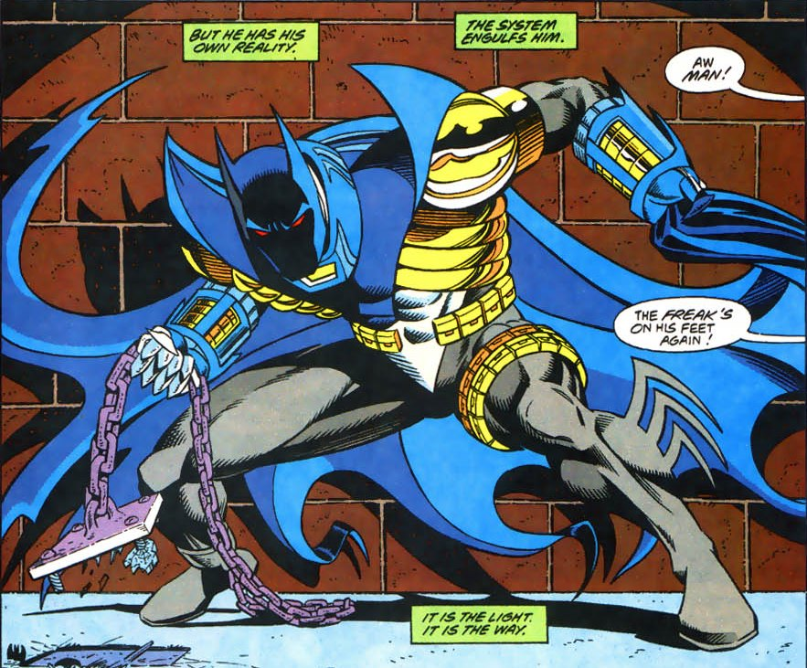 Azrael takes over the mantle of Batman in Knightfall