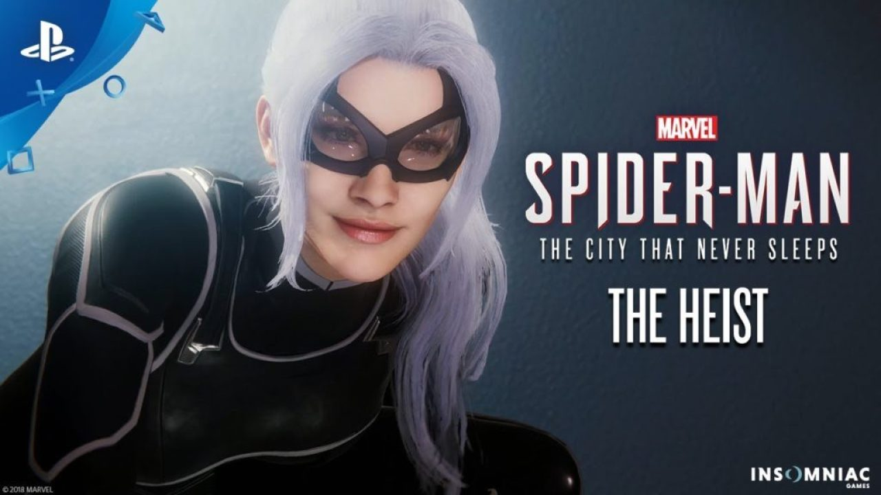 "ps4 Marvel Spider-Man in ""The Heist"" starring the Black Cat"