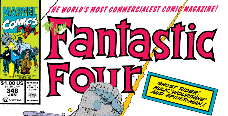 Hulk, Spider-Man, Wolverine, and Ghost Rider on the Fantastic Four