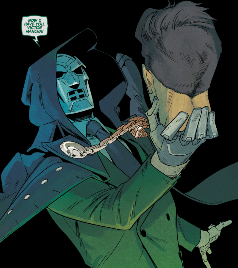 Doombot in the pages of Runaways