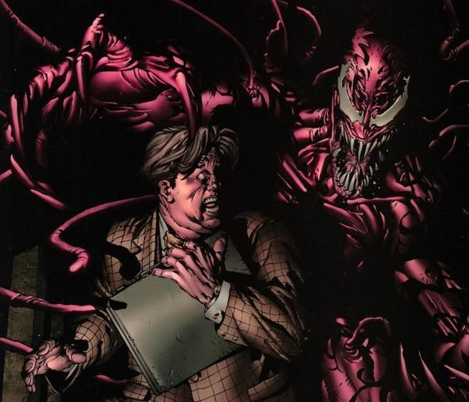 Carnage sneaks up on Foggy Nelson in New Avengers