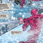 Daredevil versus Frost Giants in War of the Realms comics