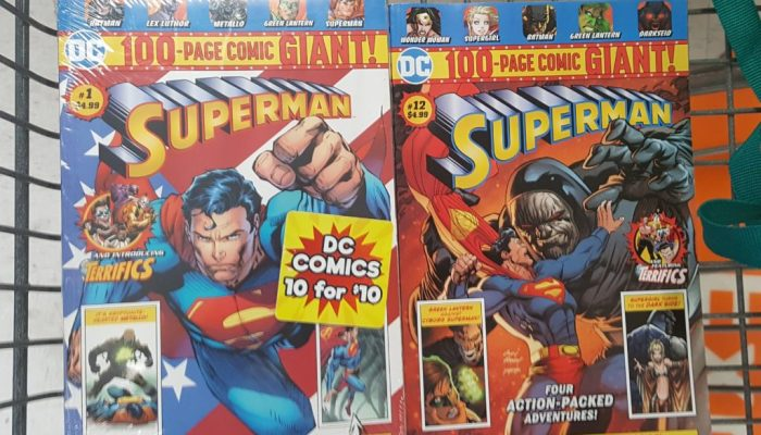 Superman comics bought at Walmart
