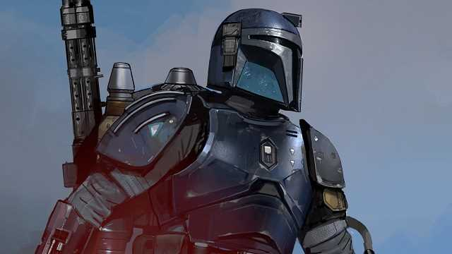 Concept art of the Heavy Duty Mandalorian