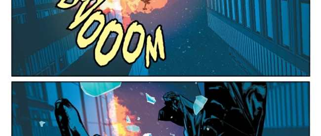 Batman and Catwoman explosion