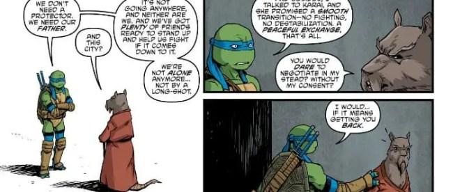 Teenage Mutant Ninja Turtles #91 Leonardo Talks With Master Splinter