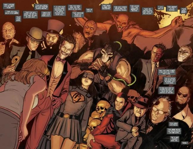 Batman #72 Rogues Gallery Assemble Moment