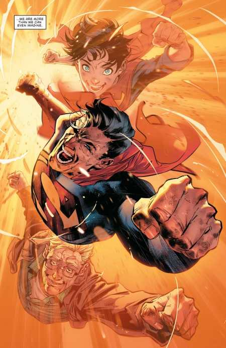 Justice League #25 Superman Family Moment