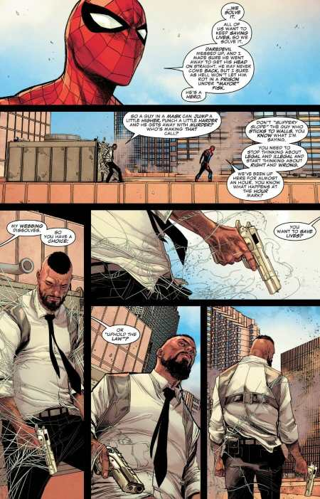Daredevil 11 Spider-Man Talks Superheroes With Detective North
