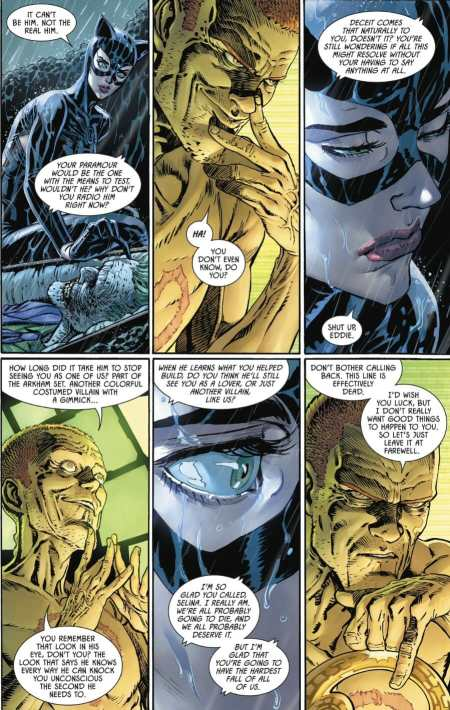 Batman 88 Riddler Talks Past With Catwoman