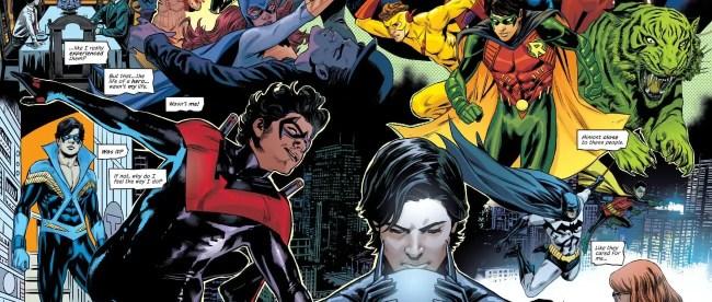 Dick Grayson Robin Nightwing Teen Titans History