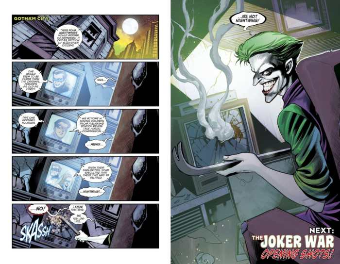 Nightwing 69 Joker Targets Nightwings