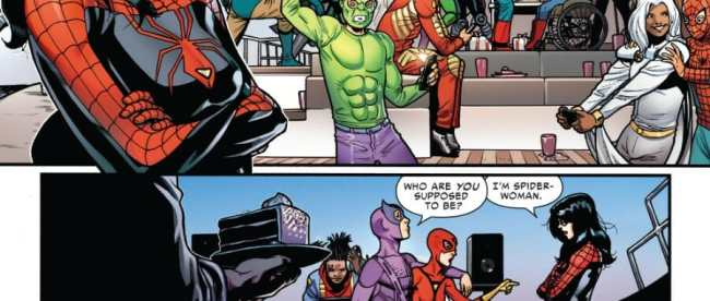 Spider-Woman #1 Party