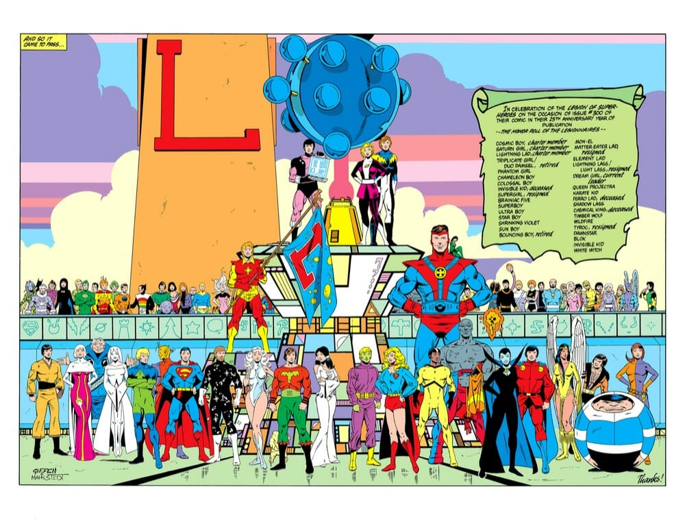 Legion 300 (1983) Legion of Super-Heroes Group Shot