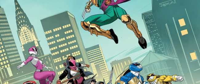 Mighty Morphin Power Rangers Teenage Mutant Ninja Turtles #4 Cover