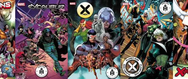 X-Men Hellfire Gala Covers