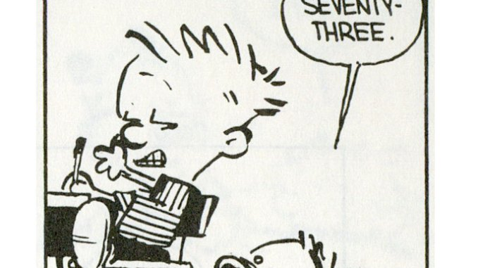 Calvin Learns Math from Hobbes