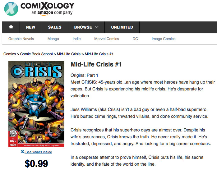 Mid-Life Crisis comic on Comixology screenshot.
