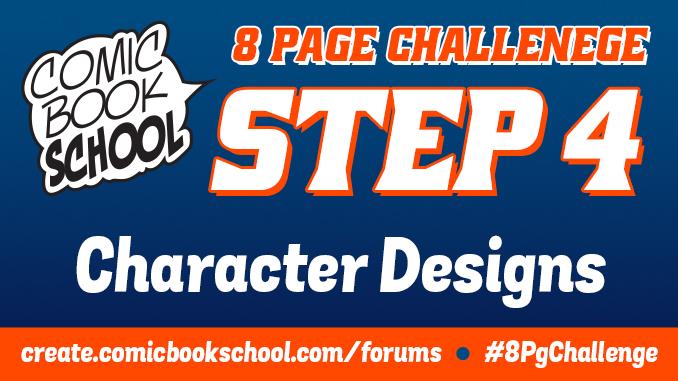 Step 4 of the 8-Page Challenge to Make Comics