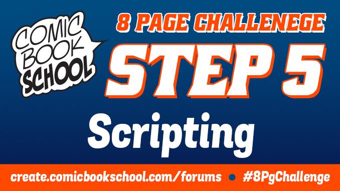 Header image for Scripting step of 8-Page Challenge