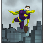 Panel from Mr. Stupendous flying