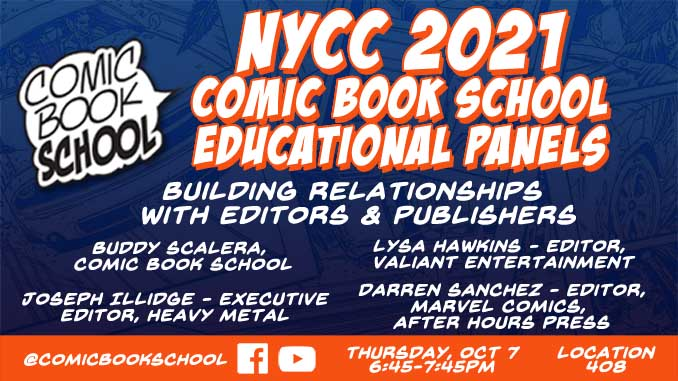 NYCC 2021 Editors Panel Header