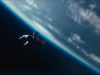 Superman flying in space