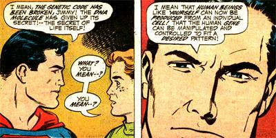 Superman explique à Jimmy ce qu'est le Projet Cadmus