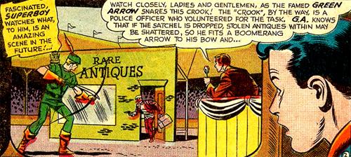Superboy découvre Green Arrow adulte...