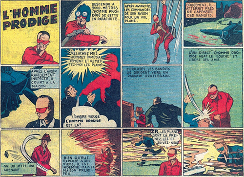 Masked Man tel que traduit dans l'Aventureux
